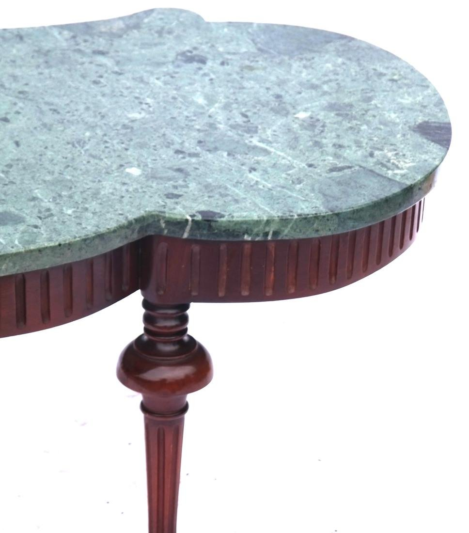Regency-Style Marble Top Cocktail Table - 2