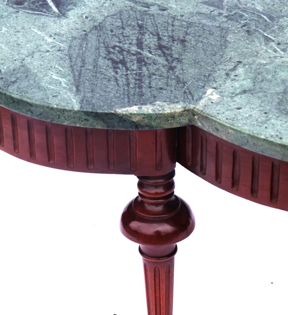 Regency-Style Marble Top Cocktail Table - 3