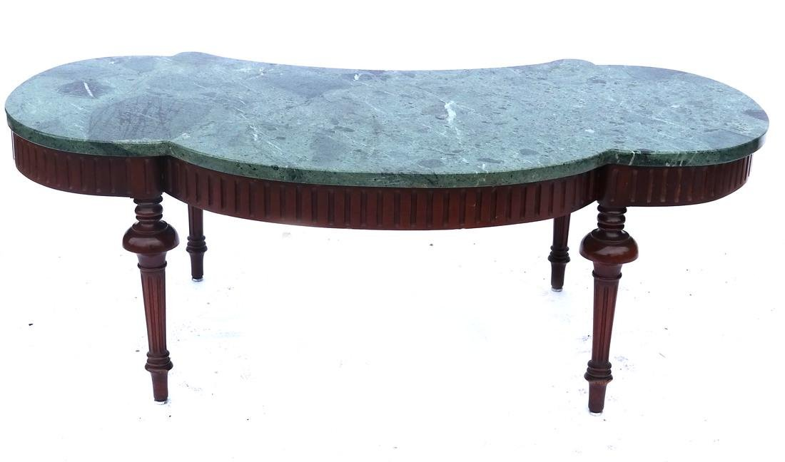 Regency-Style Marble Top Cocktail Table - 5