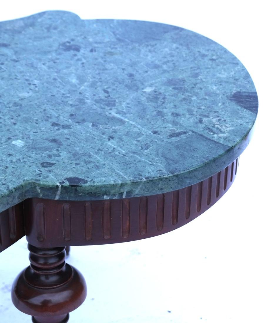 Regency-Style Marble Top Cocktail Table - 6