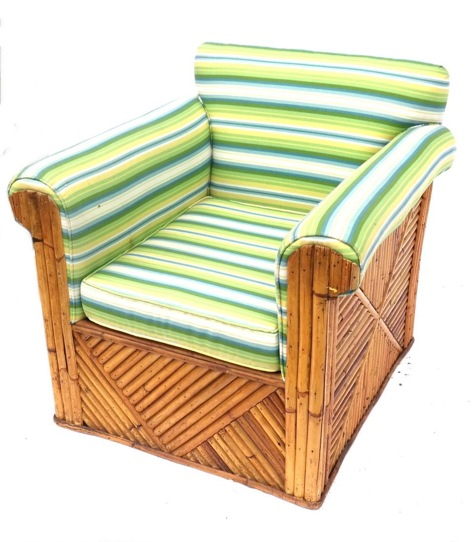 Large Rattan-Style Bergere