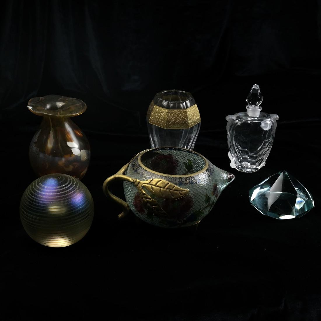 Six Assorted Glass Objects