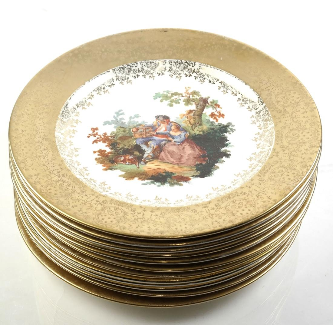 12 Royal China Decorated Dinner Plates