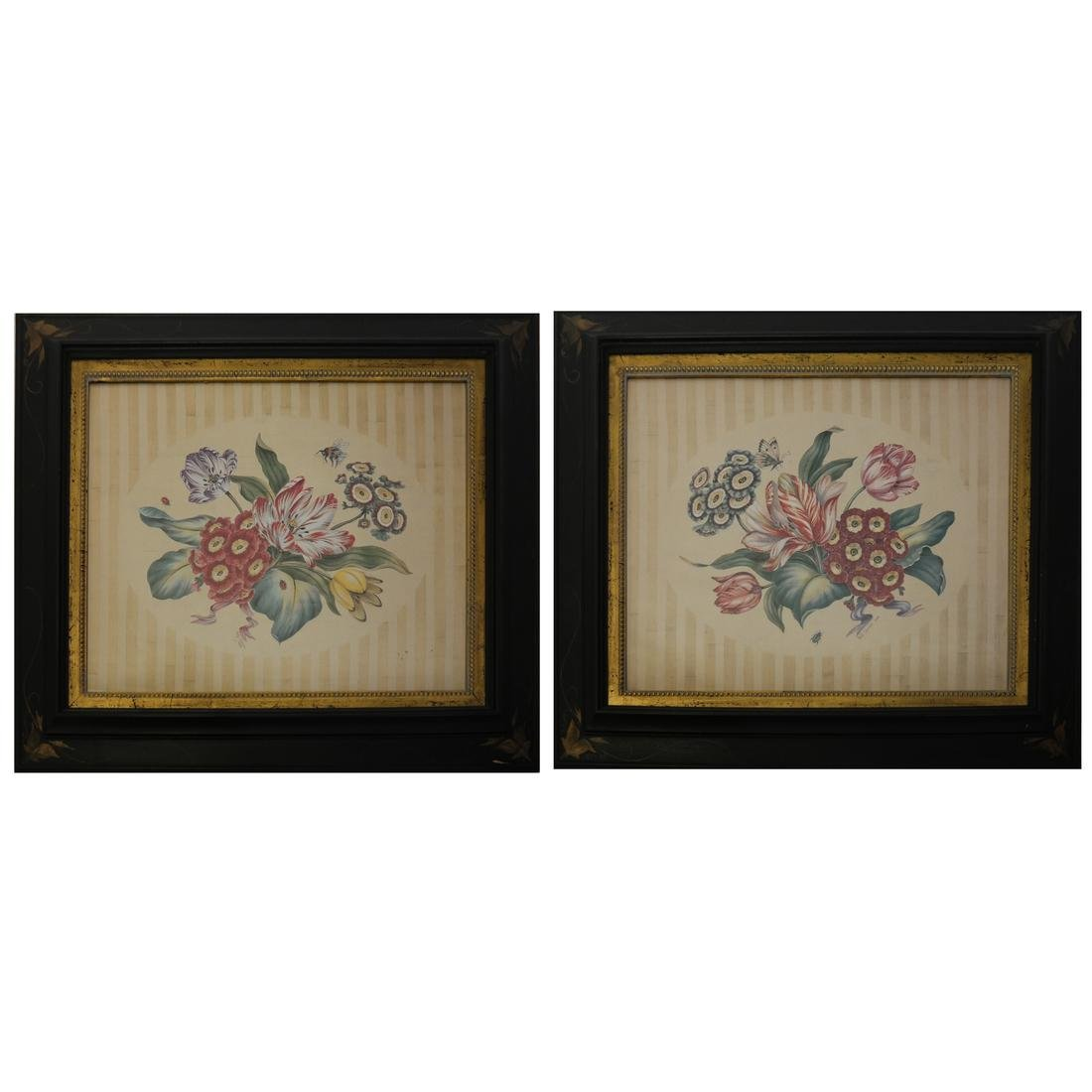 Two Floral Still Life Prints