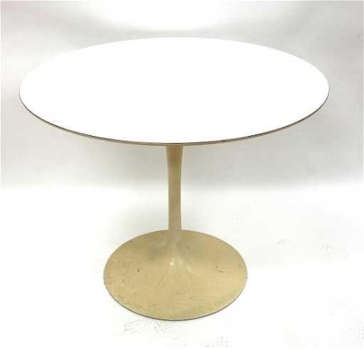 Modern Tulip Table Labeled Knoll Herman Miller - Herman miller tulip table