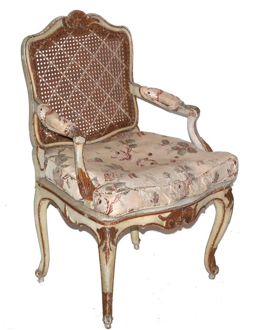 19th Century Continental Painted Armchair