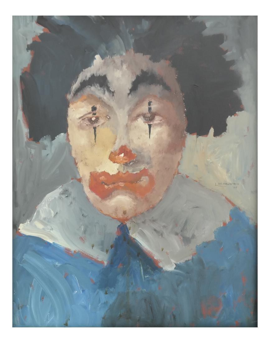 De Magistris, 1965 'Clown' - Oil on Canvas