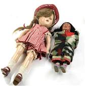Two Dolls - Shirley Temple & Native American