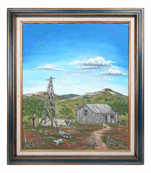 Paul R. Ruiz, Oil on Canvas - Farm Scene