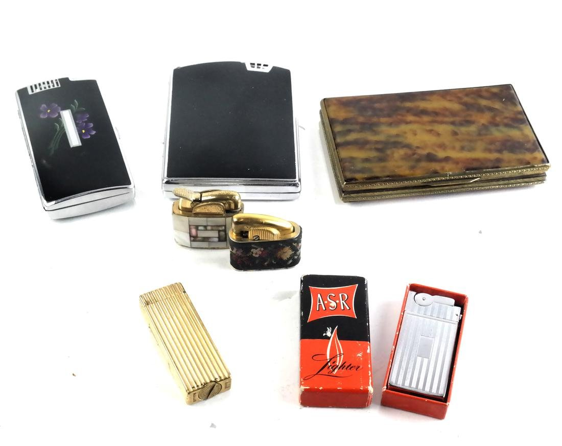 Group of Smoking Items: Ronson, Dunhill
