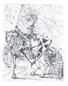"""Salvador Dali, """"El Cid"""" - Etching"""
