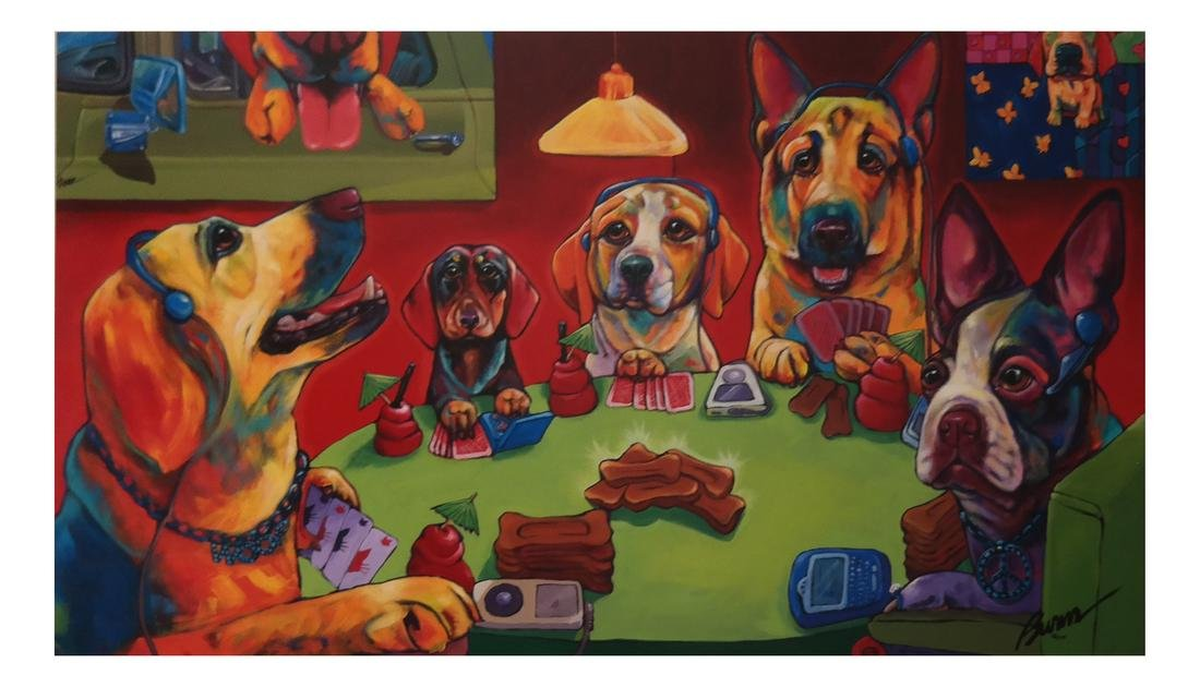 Ron Burns: Dogs Playing Cards