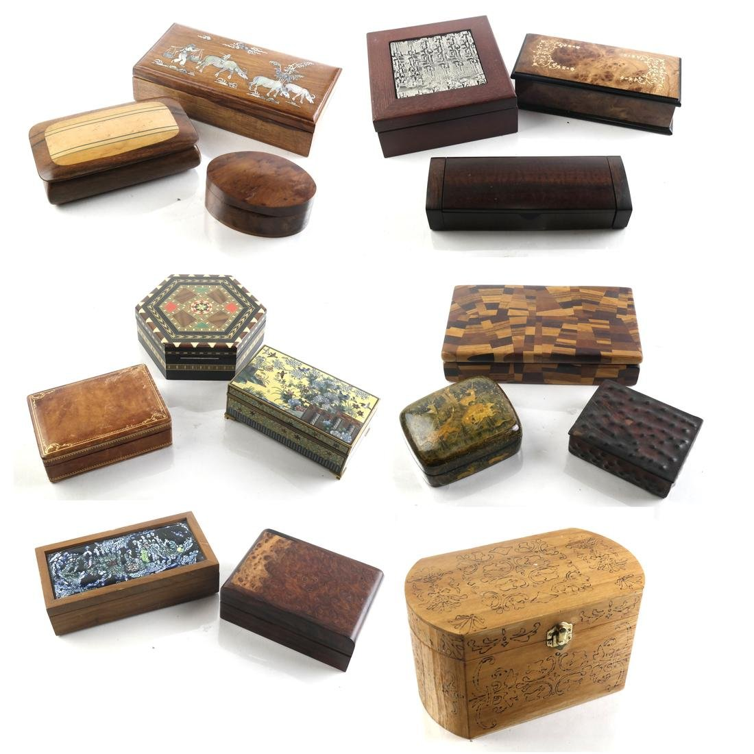 Collection of Exotic Wood Boxes