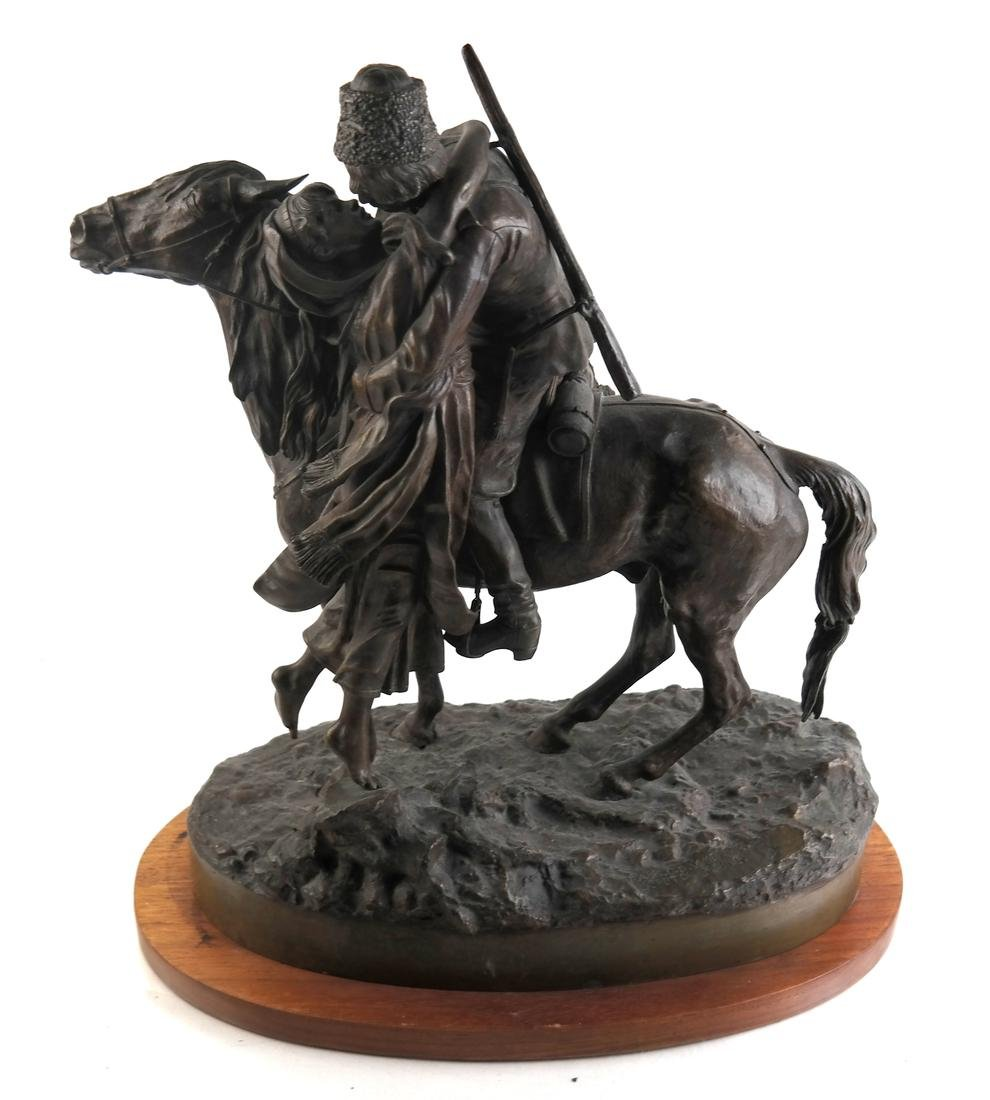Russian Bronze, Lovers and Soldier on Horseback