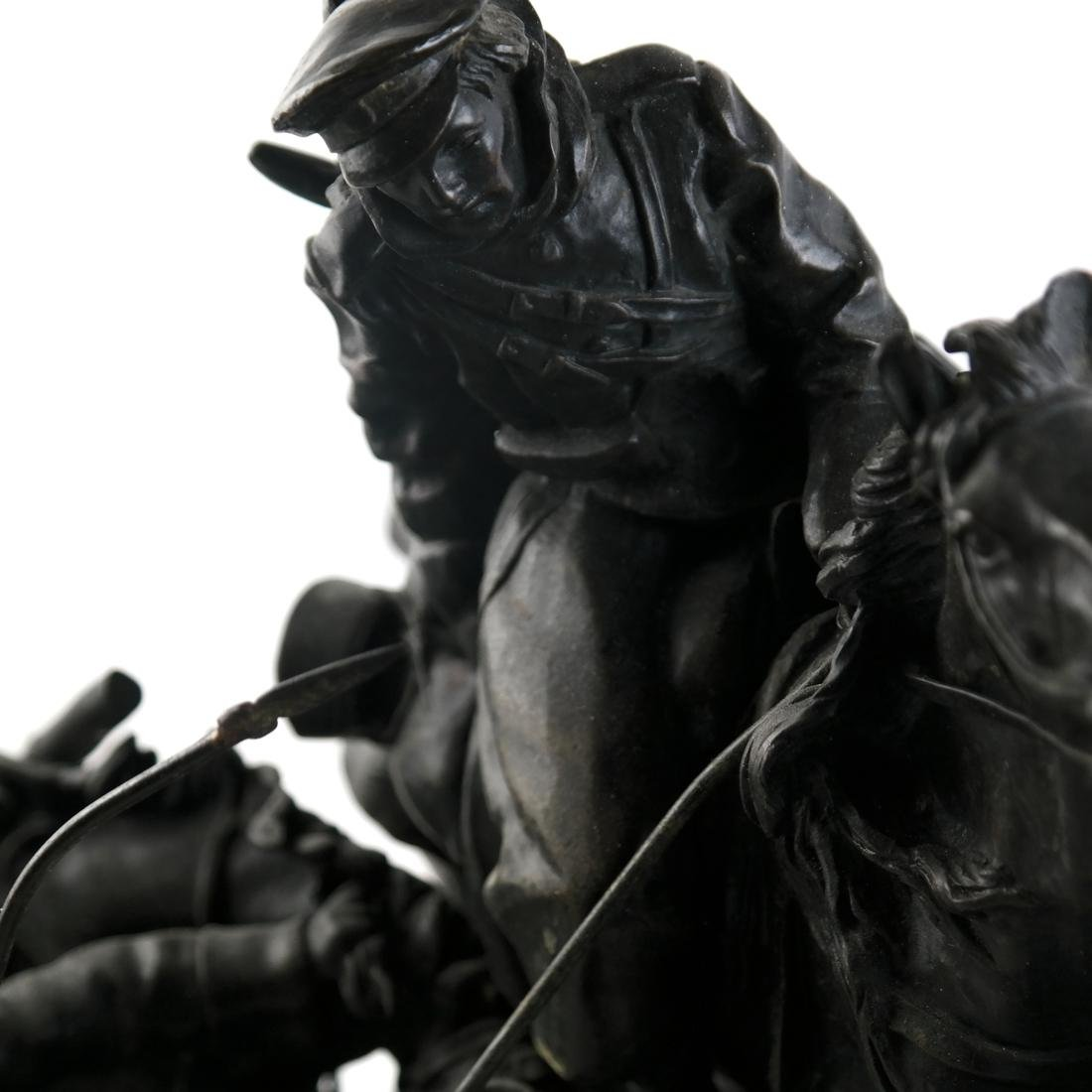 Antique Russian Bronze Group: Cossacks on Horseback - 4
