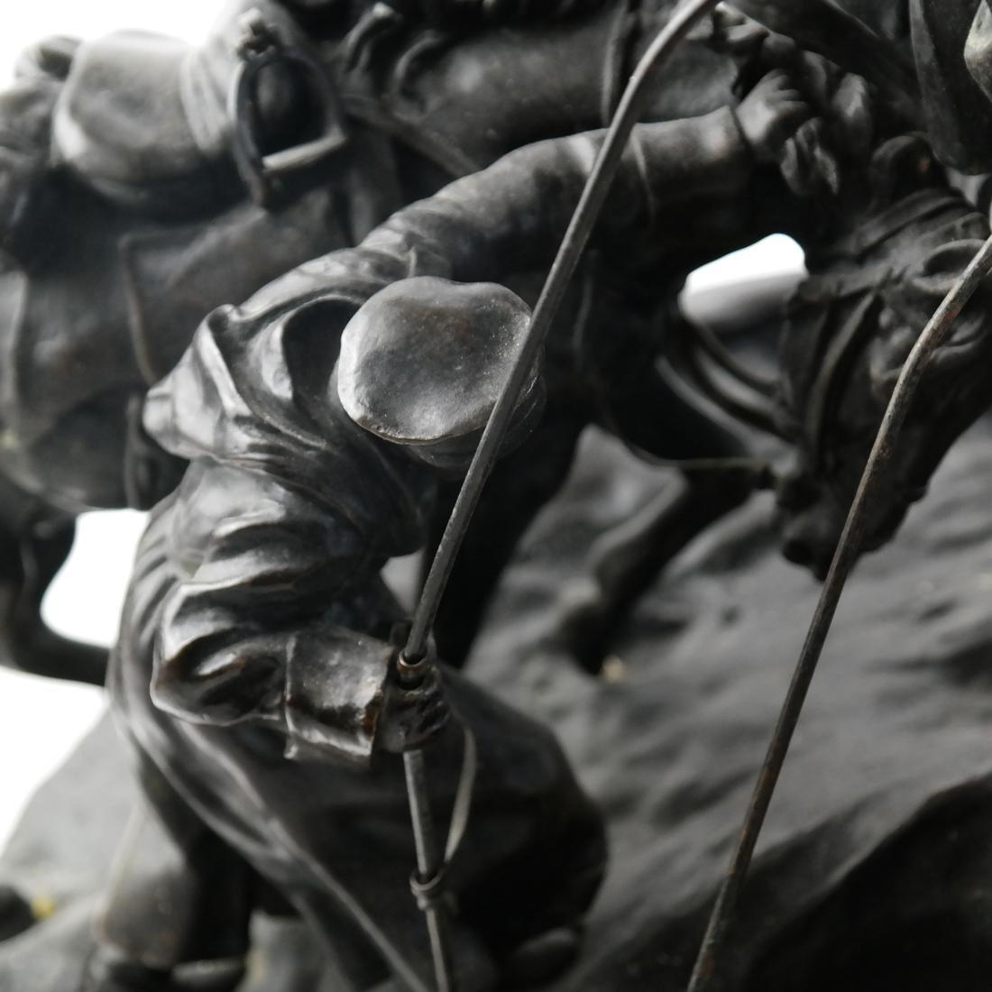 Antique Russian Bronze Group: Cossacks on Horseback - 5