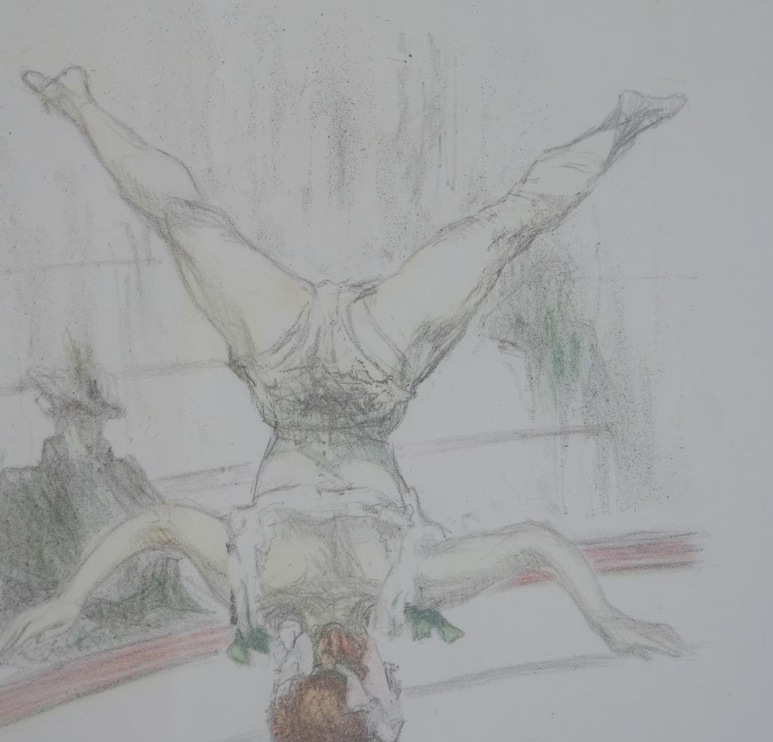 Pau Roig Catalan, Acrobats - Two Color Prints - 4