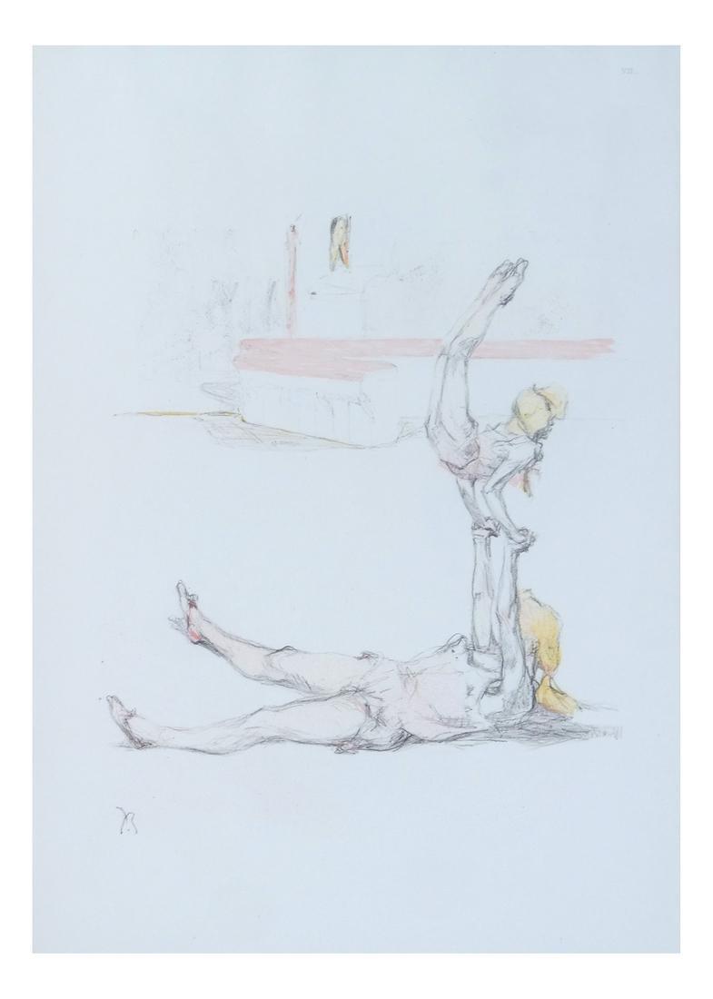 Pau Roig Catalan, Acrobats - Two Color Prints - 6