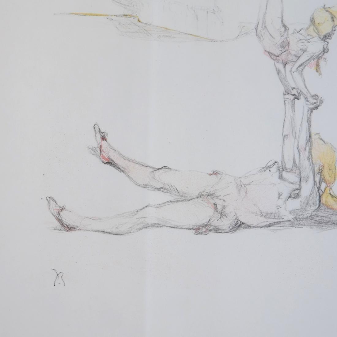Pau Roig Catalan, Acrobats - Two Color Prints - 7