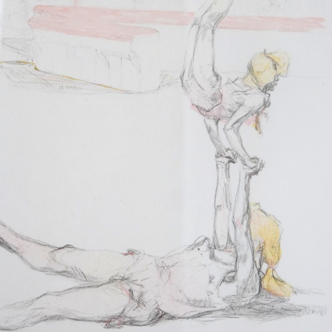 Pau Roig Catalan, Acrobats - Two Color Prints - 8