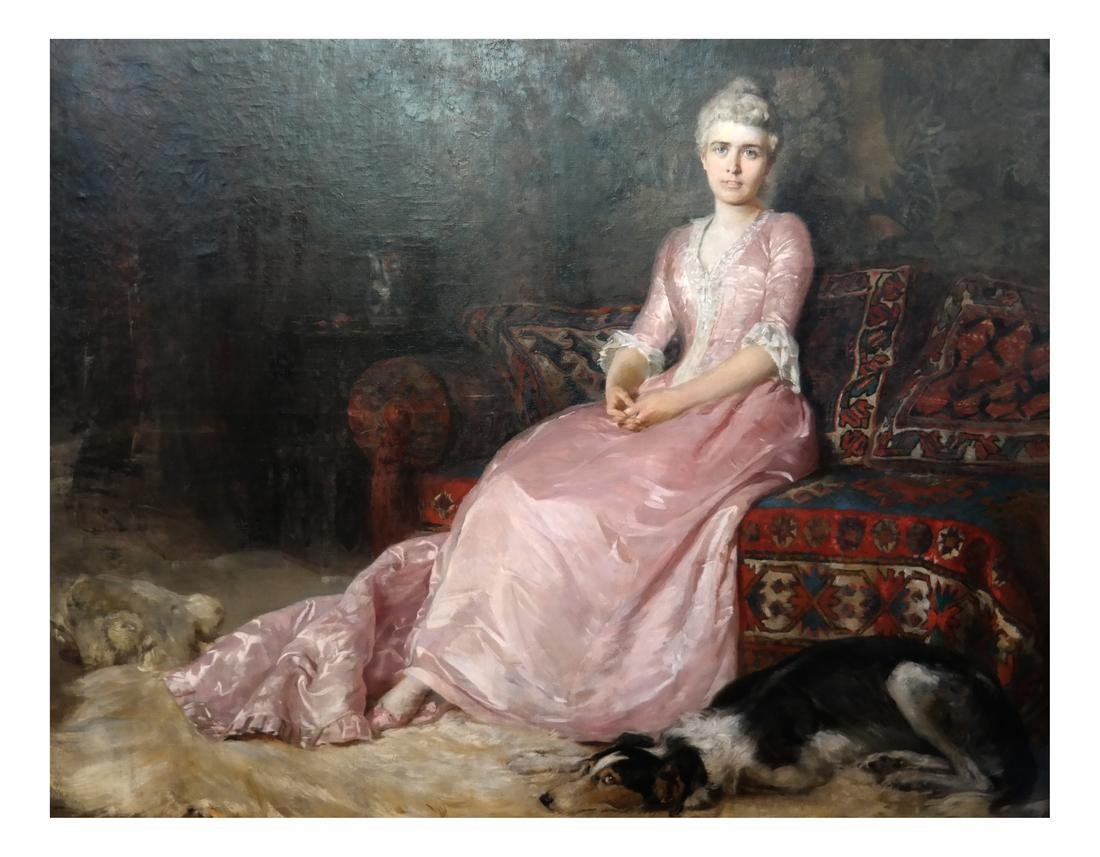 Josef Schretter, Portrait of a Woman - Oil on Canvas