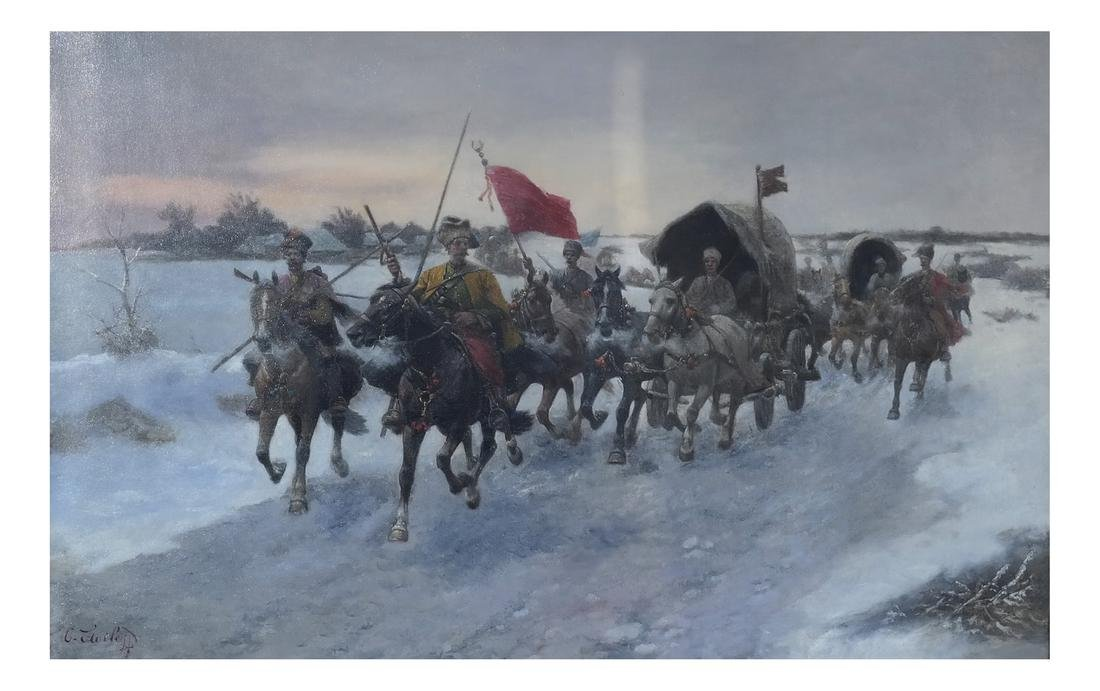 Adolf Baumgartner-Stoiloff, Siberia in Winter