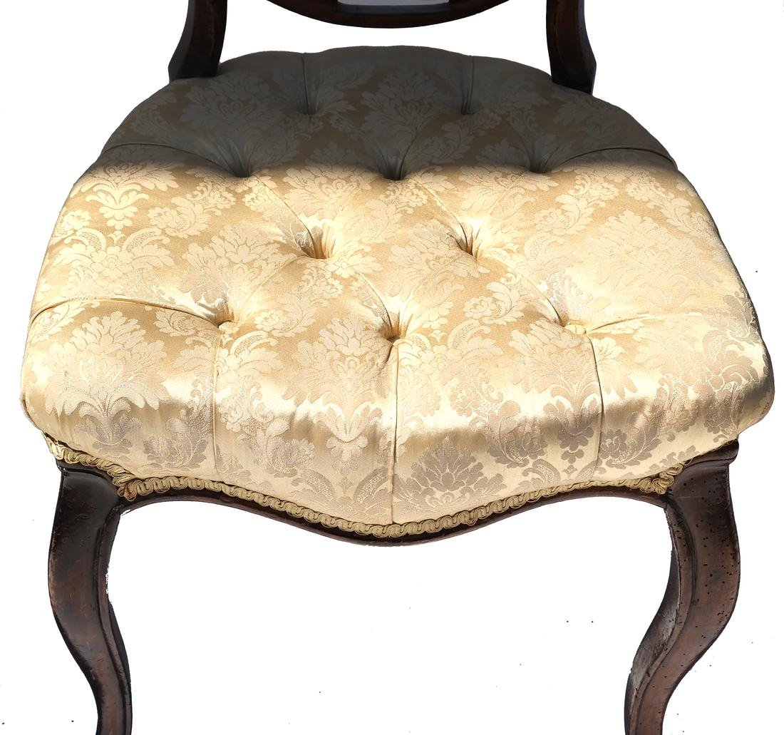 Antique English Victorian Balloon-Back Chairs - 3