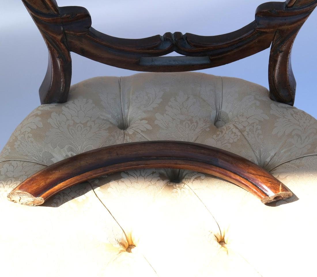 Antique English Victorian Balloon-Back Chairs - 5