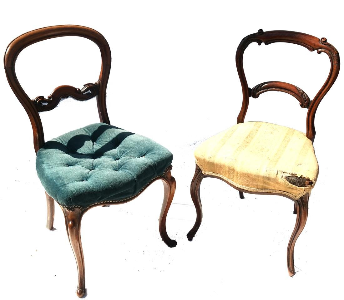 Antique English Victorian Balloon-Back Chairs - 6
