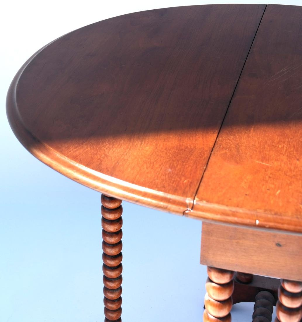 Stand, and Drop-Leaf Turned Leg Table - 2