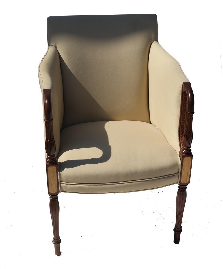 Southwood Sheraton-Style Mahogany Upholstered Chair