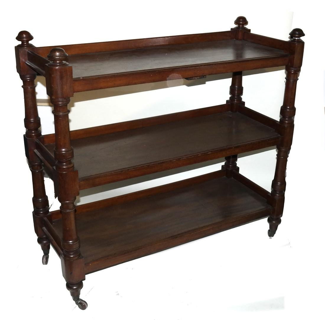 William IV Mahogany Three-Tier Server