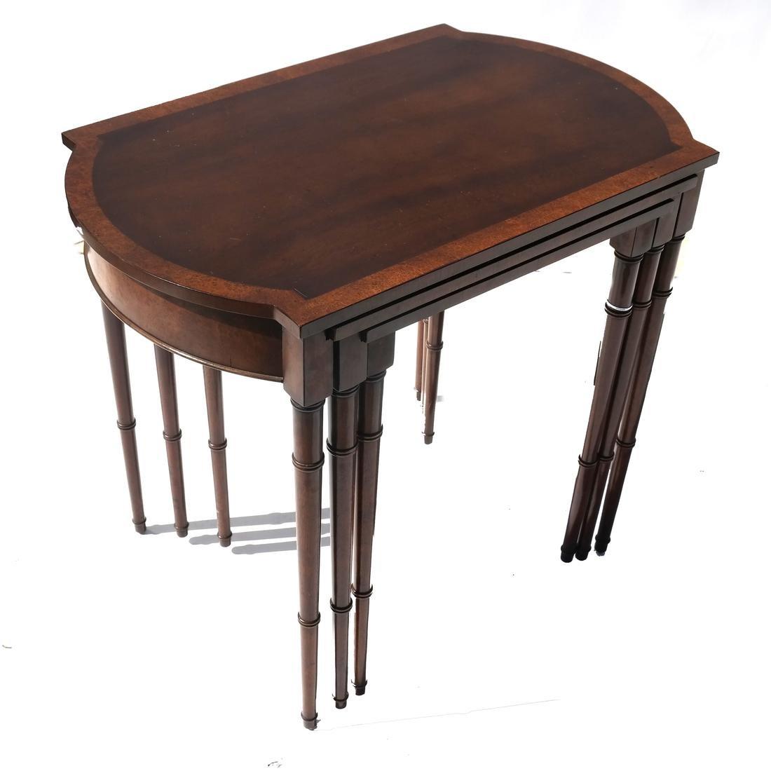 Nest of Three Mahogany Tables