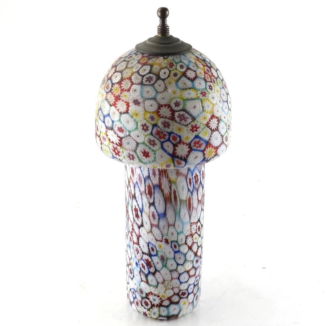 Millefiori-Design Murano-Style Shade and Vessel