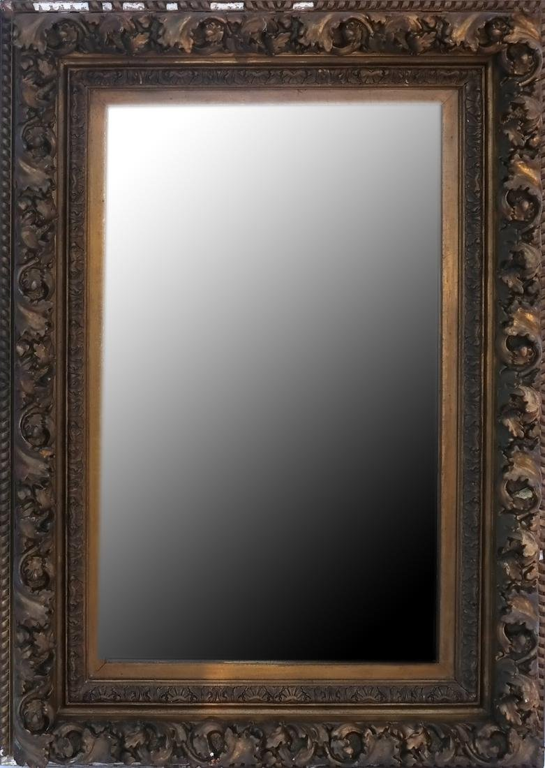 Overmantle Mirror Mounted in Frame