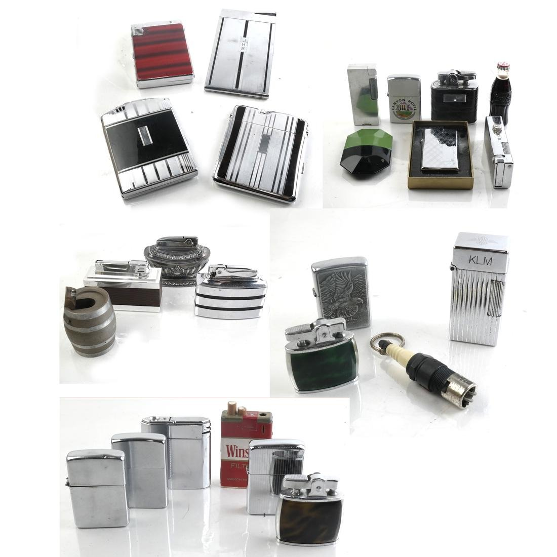Cigarette Lighters, Box Lot of 26, Including Ronson