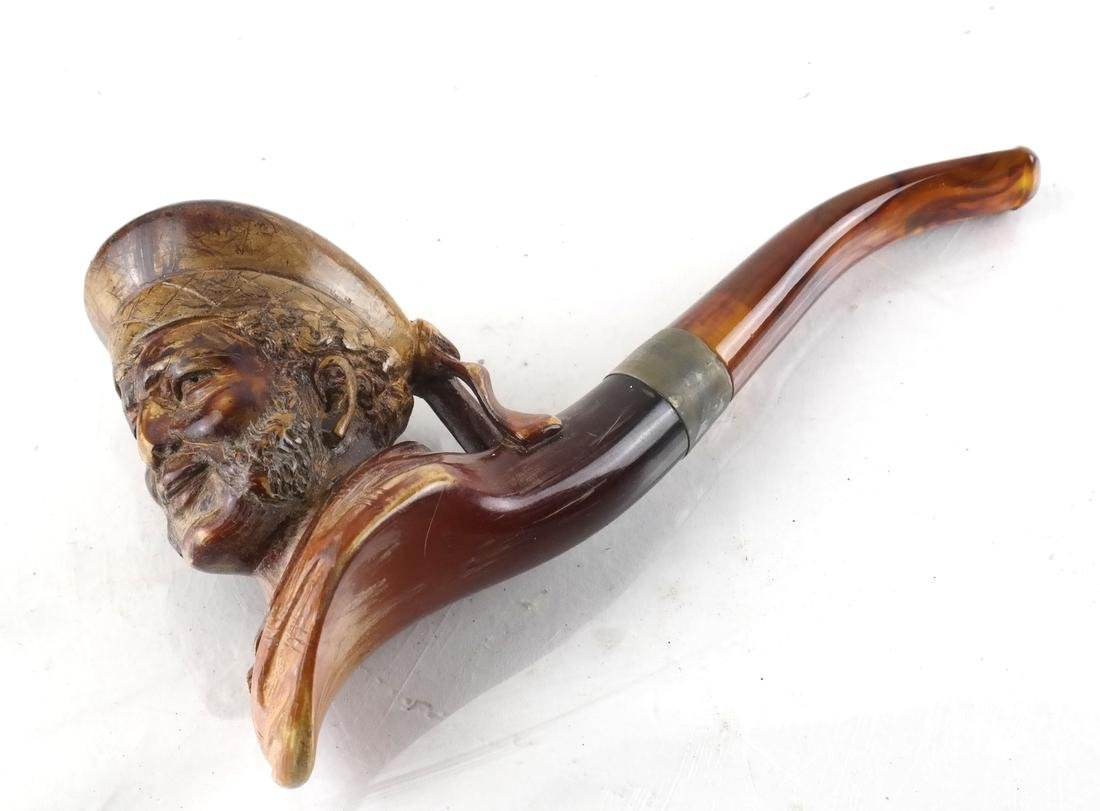 Antique Carved Meerschaum Pipe - Bonnie Prince Charlie