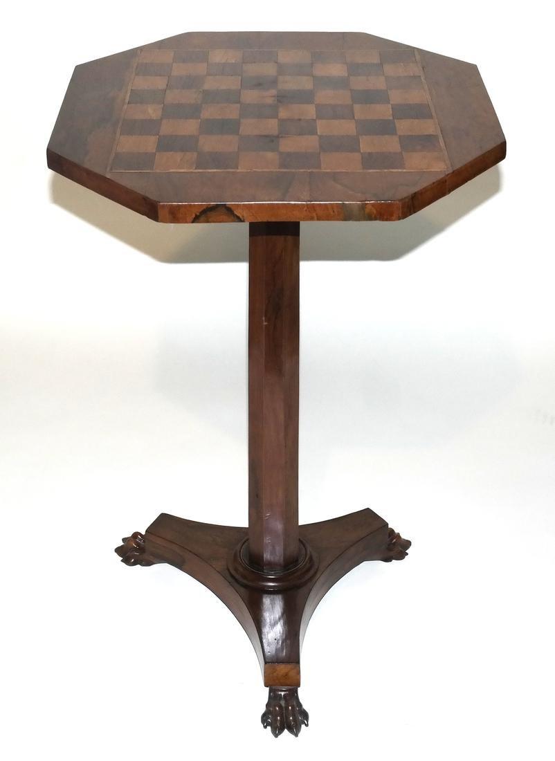 Antique William IV Rosewood Games Table