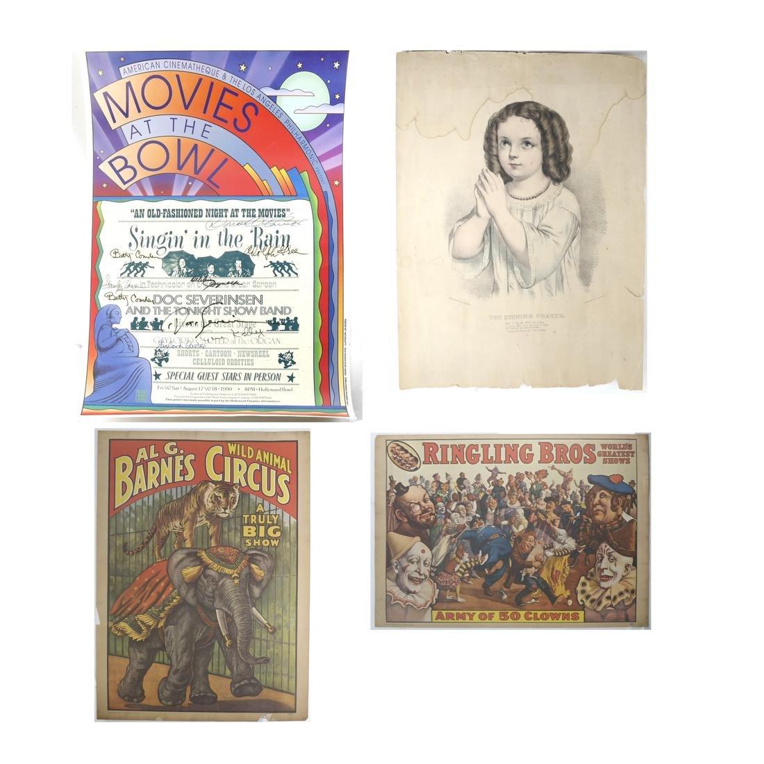 Circus Prints, Movies At The Bowl Poster