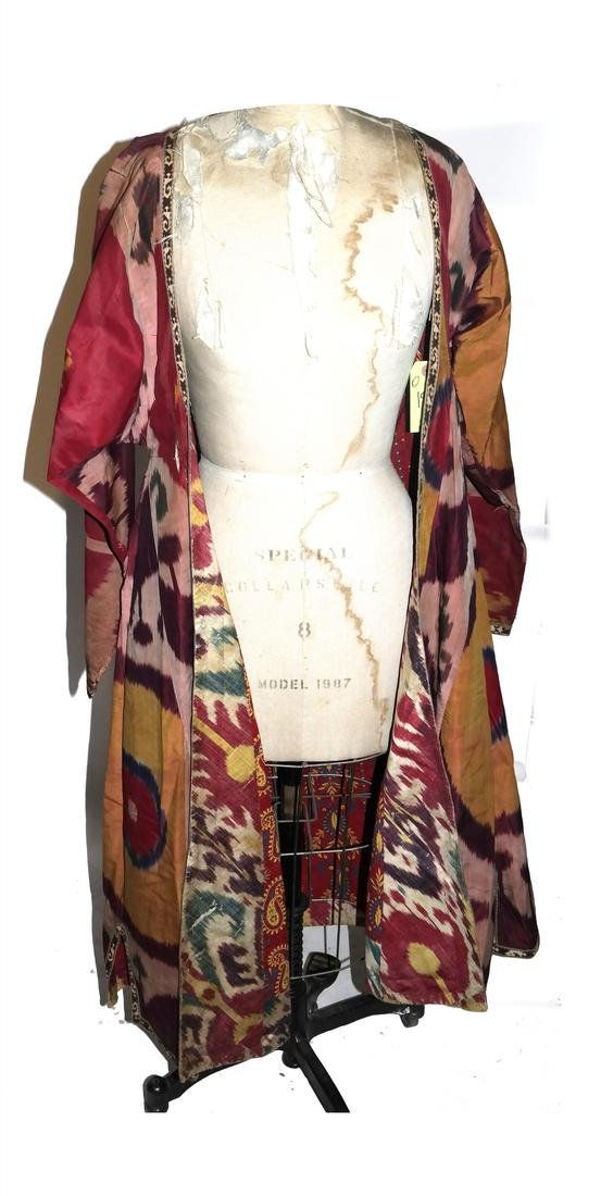 19th - 20th Century Uzbek Ikat Chapan