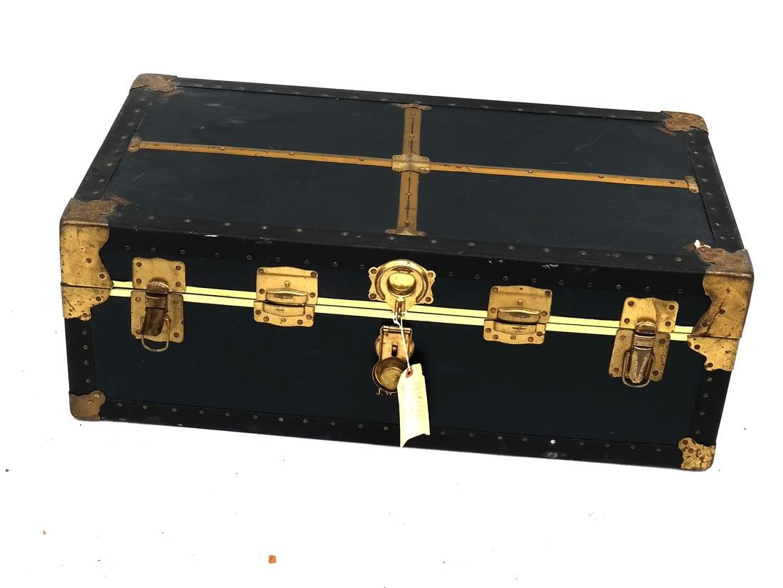 Black Steamer Trunk by T. Anthony