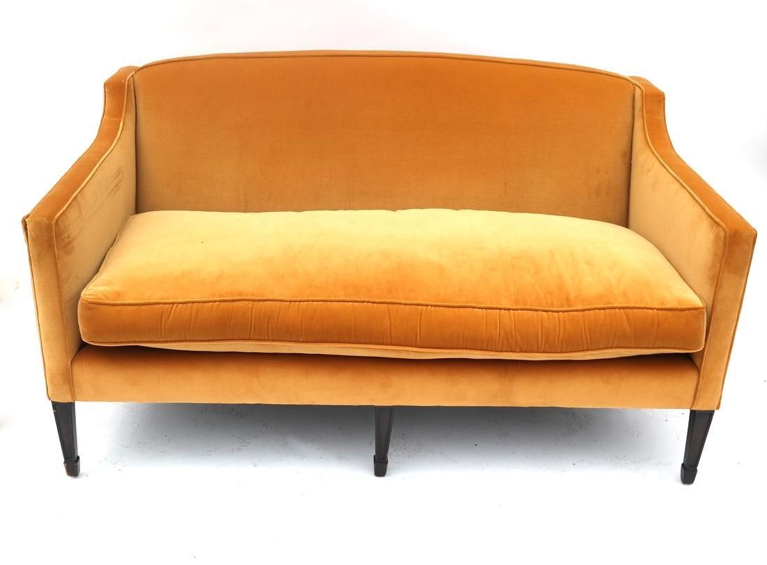 Hepplewhite-Style Gold Upholstered Sofa