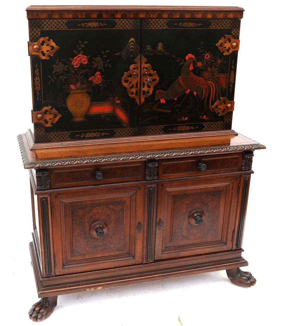 English-Style Country Decorated Cabinet - Berkey & Gay