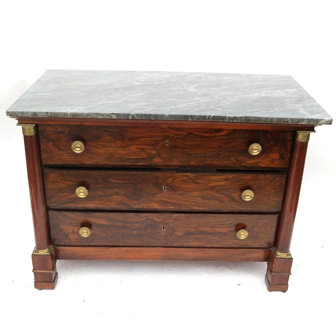 Antique American Empire Butler's Chest