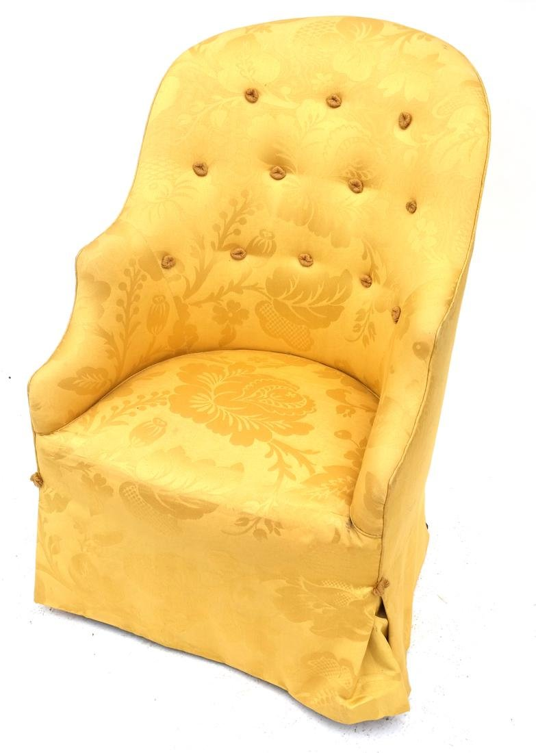 Contemporary Yellow Upholstered Club Chair