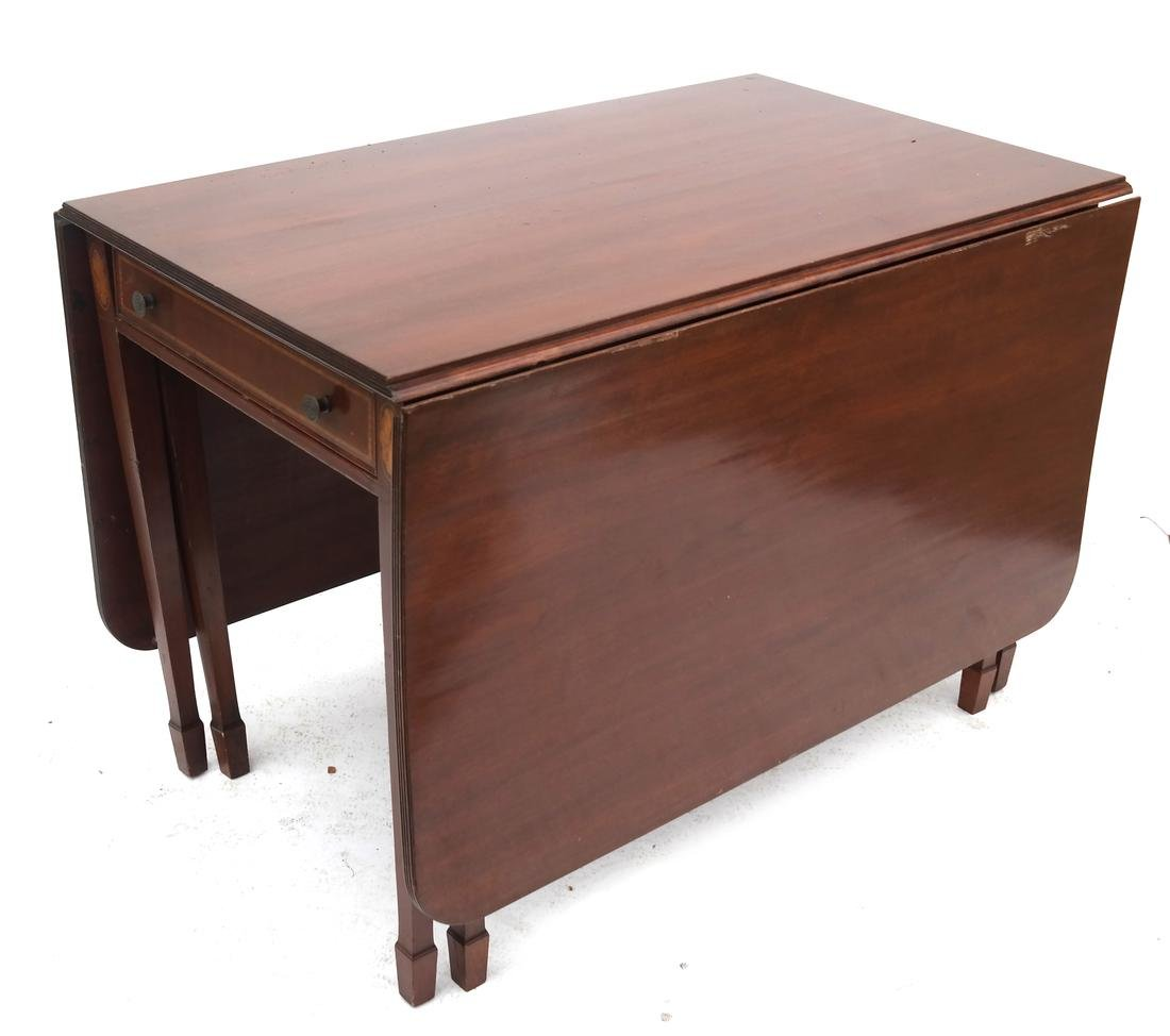 Sheraton-Style Drop-Leaf Table.