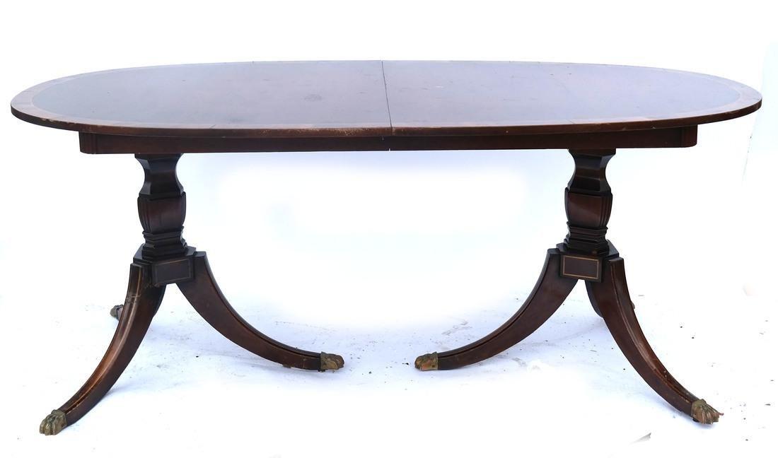 Sheraton-Style Mahogany Dining Table