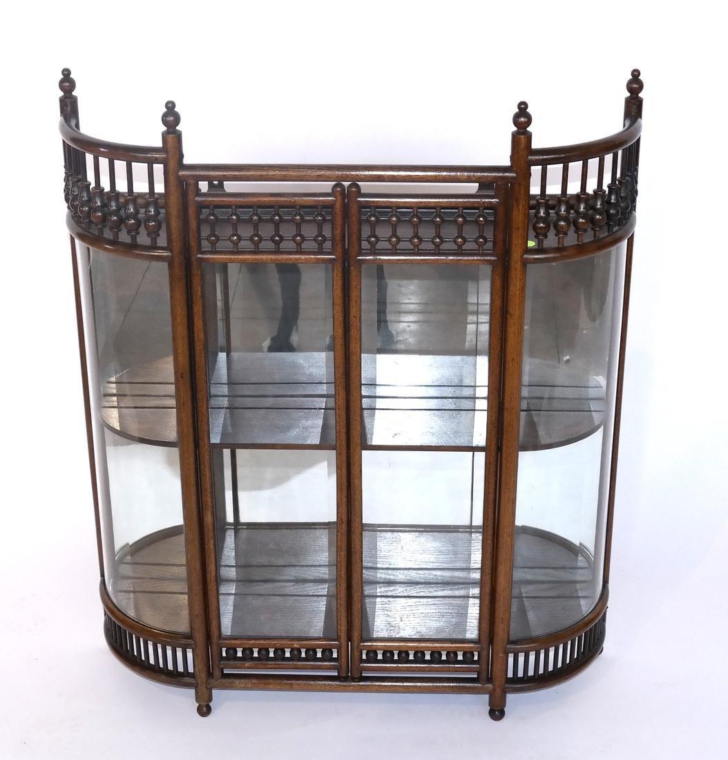 English Oak Spindle-Form Hanging Cabinet
