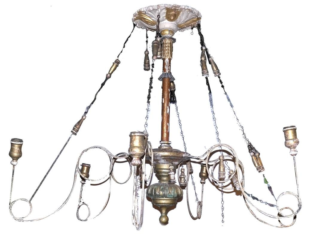 Continental Painted 6-Light Non-Electric Chandelier