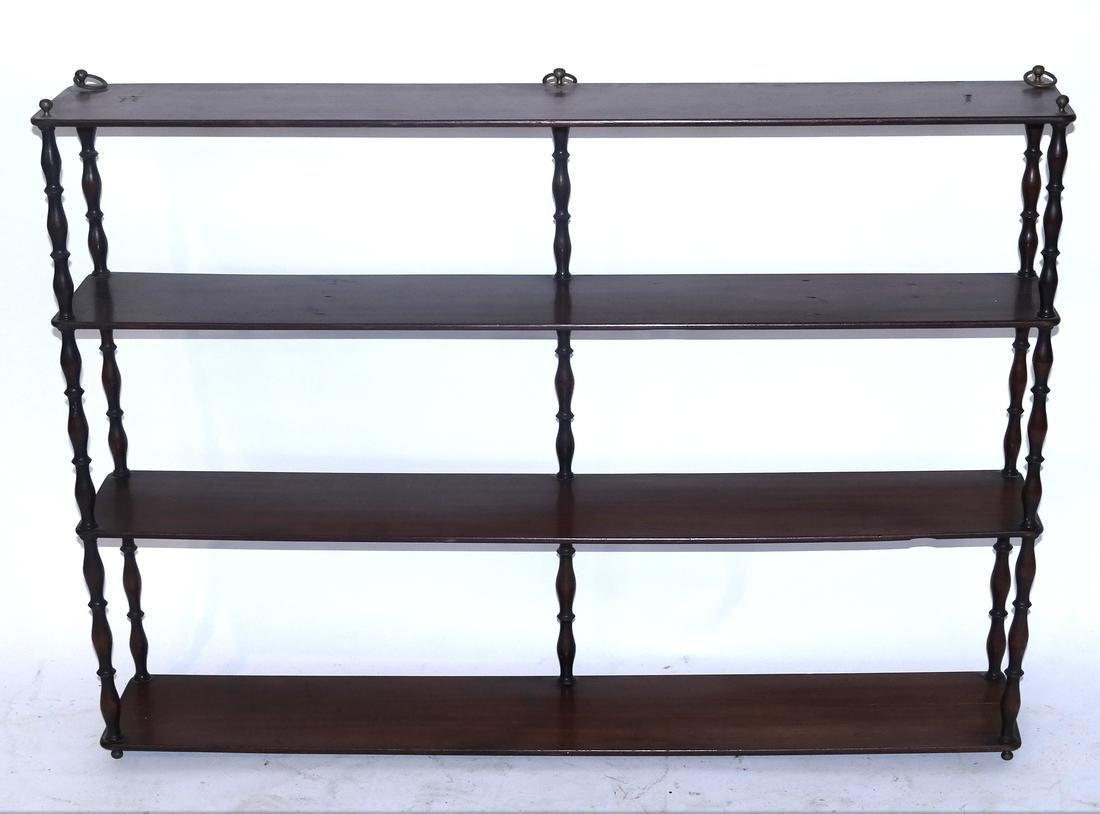 Georgian-Style 3-Tier Hanging Shelf